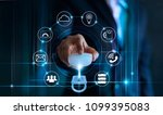 data protection privacy concept.... | Shutterstock . vector #1099395083