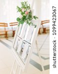 Small photo of The decor of the wedding hall. Wedding hall attributes