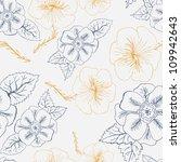seamless floral retro pattern... | Shutterstock .eps vector #109942643