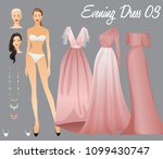 body template with outfits and... | Shutterstock .eps vector #1099430747