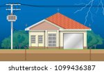 electric power distribution... | Shutterstock .eps vector #1099436387