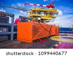 basket for lifting equipment... | Shutterstock . vector #1099440677