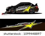 rally car vector livery.... | Shutterstock .eps vector #1099448897