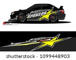 rally car vector livery.... | Shutterstock .eps vector #1099448903