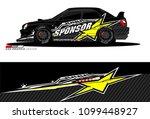 rally car vector livery.... | Shutterstock .eps vector #1099448927