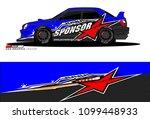 rally car vector livery.... | Shutterstock .eps vector #1099448933