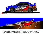 rally car vector livery.... | Shutterstock .eps vector #1099448957