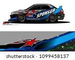 rally car vector livery.... | Shutterstock .eps vector #1099458137