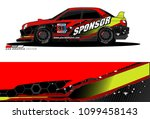 rally car vector livery.... | Shutterstock .eps vector #1099458143