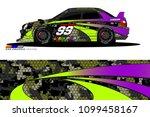 rally car vector livery.... | Shutterstock .eps vector #1099458167