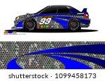 rally car vector livery.... | Shutterstock .eps vector #1099458173