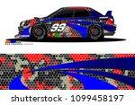 rally car vector livery.... | Shutterstock .eps vector #1099458197