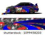 rally car vector livery.... | Shutterstock .eps vector #1099458203