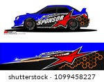 rally car vector livery.... | Shutterstock .eps vector #1099458227