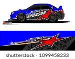 rally car vector livery.... | Shutterstock .eps vector #1099458233