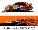 rally car vector livery.... | Shutterstock .eps vector #1099458257