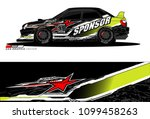 rally car vector livery.... | Shutterstock .eps vector #1099458263
