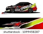 rally car vector livery.... | Shutterstock .eps vector #1099458287