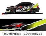 rally car vector livery.... | Shutterstock .eps vector #1099458293