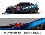 rally car vector livery.... | Shutterstock .eps vector #1099458317