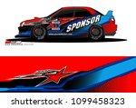 rally car vector livery.... | Shutterstock .eps vector #1099458323