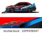 rally car vector livery.... | Shutterstock .eps vector #1099458347