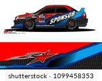 rally car vector livery.... | Shutterstock .eps vector #1099458353