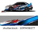 rally car vector livery.... | Shutterstock .eps vector #1099458377