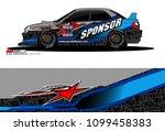 rally car vector livery.... | Shutterstock .eps vector #1099458383