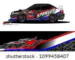 rally car vector livery.... | Shutterstock .eps vector #1099458407