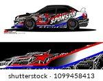 rally car vector livery.... | Shutterstock .eps vector #1099458413