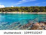 rocky beach on croatian island...   Shutterstock . vector #1099510247