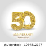 45th anniversary card template... | Shutterstock .eps vector #1099512377