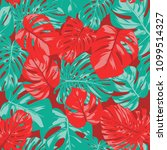 seamless tropical pattern with... | Shutterstock .eps vector #1099514327