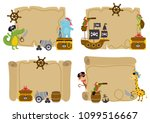 set of isolated treasure maps... | Shutterstock .eps vector #1099516667