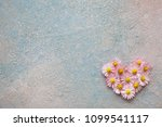 heart of flowers of daisies on... | Shutterstock . vector #1099541117