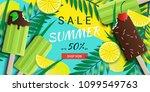 hello summer special offer...   Shutterstock .eps vector #1099549763