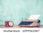 retro classic typewriter with... | Shutterstock . vector #1099561067