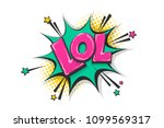 lol funny  wow comic text... | Shutterstock .eps vector #1099569317