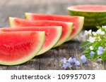 Some Pieces Of Watermelon And ...
