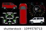 car service. bus. digital... | Shutterstock .eps vector #1099578713