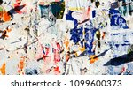 old ripped torn posters grunge... | Shutterstock . vector #1099600373