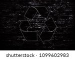 recycle sign bricks wall... | Shutterstock . vector #1099602983