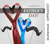 fathers day gift post greeting... | Shutterstock .eps vector #1099616537