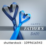 fathers day gift post greeting... | Shutterstock .eps vector #1099616543