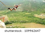 jump off a cliff with a rope. | Shutterstock . vector #109962647