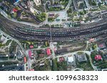 junction railway station with... | Shutterstock . vector #1099638323