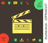 clapperboard icon symbol | Shutterstock .eps vector #1099640147
