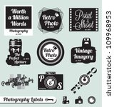 vector set  photography and... | Shutterstock .eps vector #109968953
