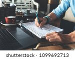 entrepreneur working on his... | Shutterstock . vector #1099692713